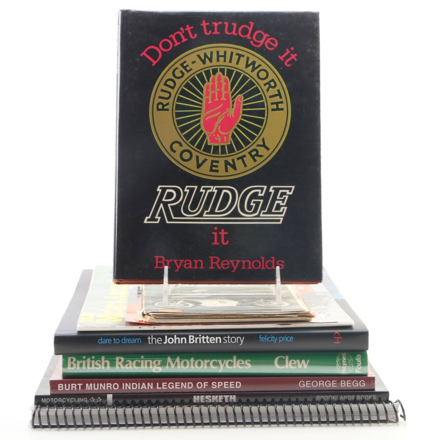 "First Edition ""Don't Trudge it, Rudge It!"" by Renolds and More Motorcycle Books"