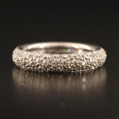 14K Pavé Diamond Eternity Band