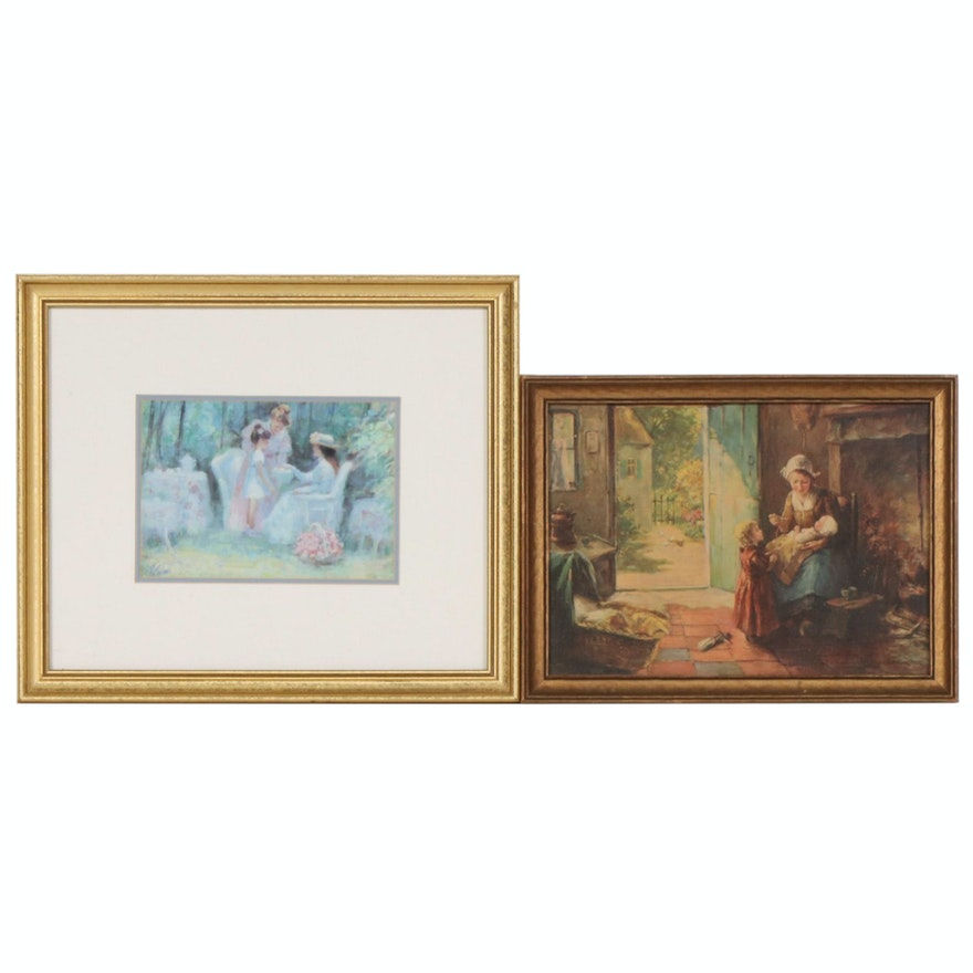 Offset Lithographs of Mothers and Children