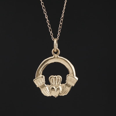 14K Claddagh Pendant Necklace