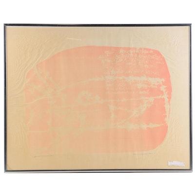 "Relief Print ""Quaint Moonmarks"""
