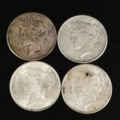1924, 1924-S, 1925, and 1925-S Peace Silver Dollars