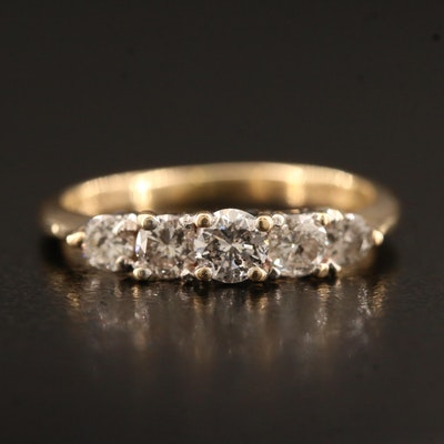 14K Five Stone Diamond Ring