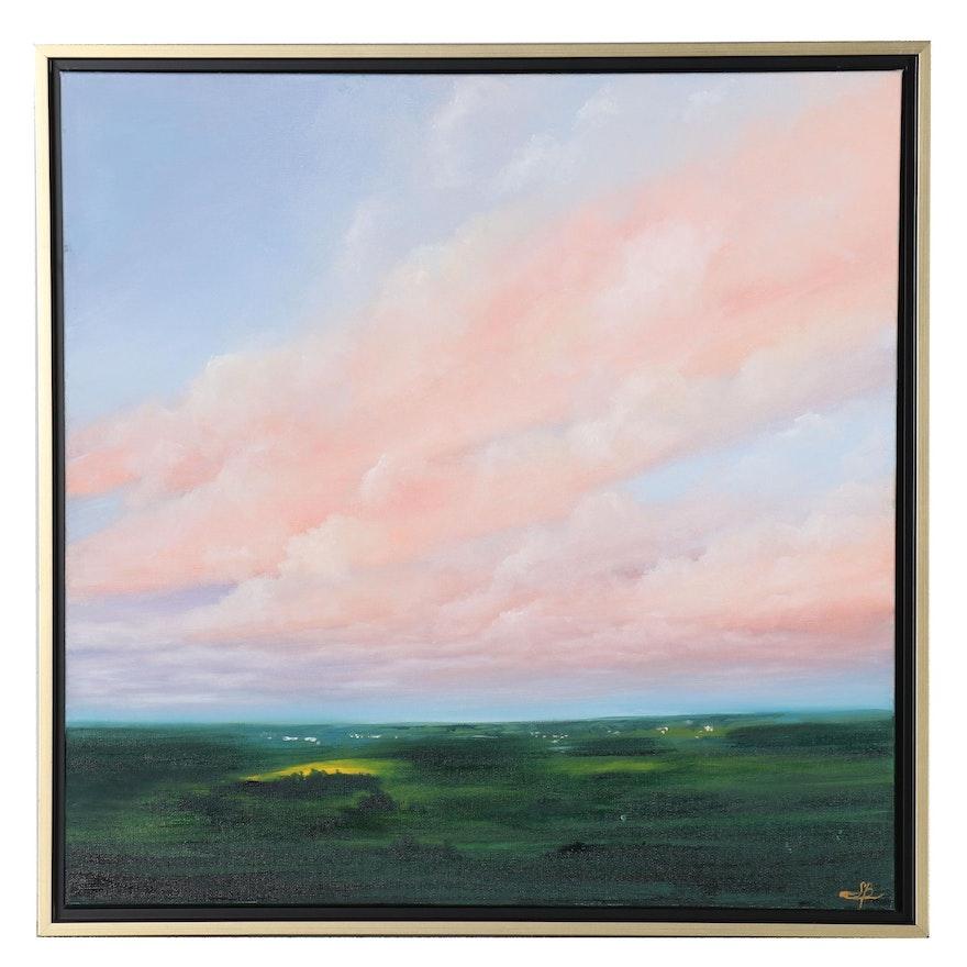 """Sarah Brown Landscape Oil Painting """"Magic Hour"""""""