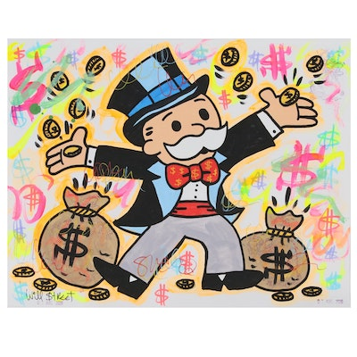 "Will $treet Acrylic and Ink ""Mr. Monopoly"", 2020"