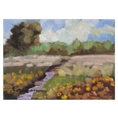 Sally Rosenbaum Landscape Oil Painting, 21st Century