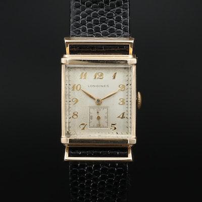 1947 Longines 14K Yellow Gold Stem Wind Wristwatch