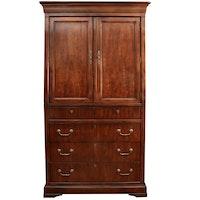 Henredon George III Style Mahogany-Stained Wood Entertainment Cabinet