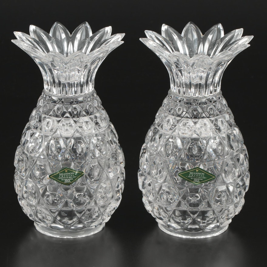 Shannon Crystal by Godinger Hospitality Pineapple Candle Holders