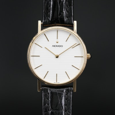 Movado 14K Yellow Gold Quartz Wristwatch