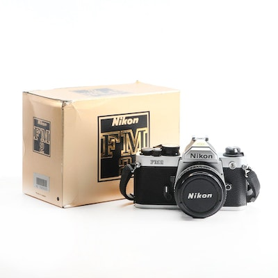 Nikon FM2 35mm SLR Camera with Shutter Release Cable
