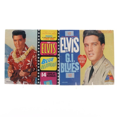 Elvis G.I. Blues and Blue Hawaii Vinyl Records