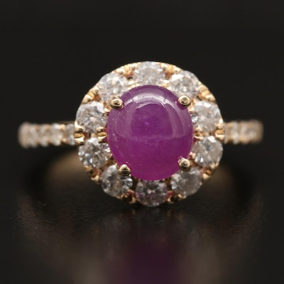 14K Ruby and 1.00 CTW Diamond Ring