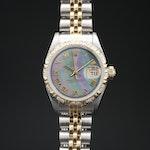 1996 Rolex Datejust 18K and Stainless Steel Diamond Automatic Wristwatch