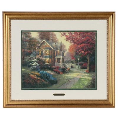 """Thomas Kinkade Offset Lithograph """"Victorian Autumn"""", 2005"""