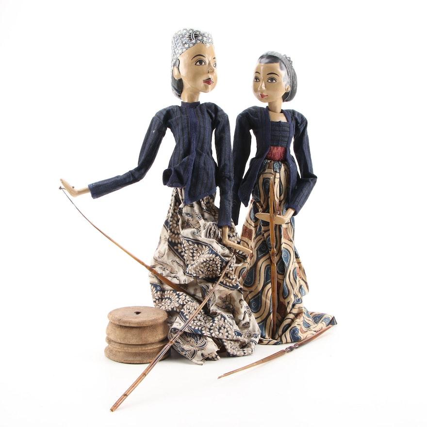 Indian Kathputli Theater Style Marionette Puppets