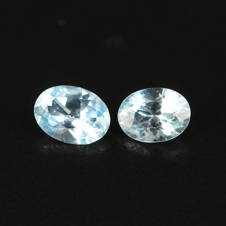 Loose 1.69 CTW Oval Faceted  Sky Blue Topaz