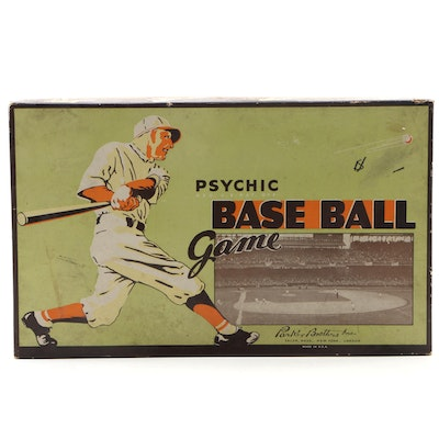 "Parker Brothers ""Psychic"" Base Ball Board Game Featuring Yankees Stadium, 1930s"