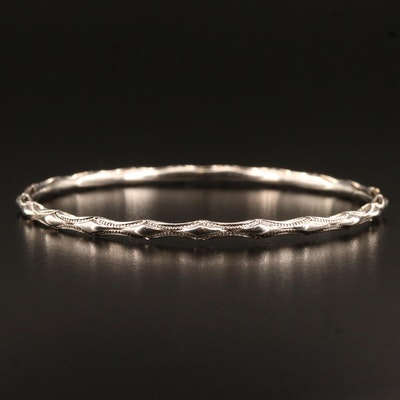 "Tacori ""Classic Rock"" Sterling Silver Bangle with 18K Accent"