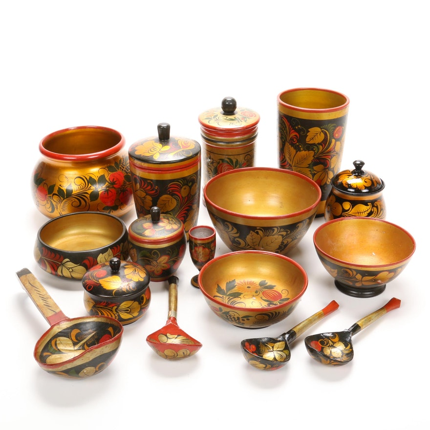 Hand-Painted Russian Toleware