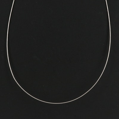 18K Gold Wire Chain Necklace