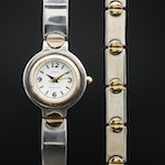 Ecclissi Sterling and Stainless Steel Wristwatch with Matching Bracelet