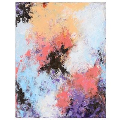 "Sanna Abstract Acrylic Painting ""Sungazer"", 2020"