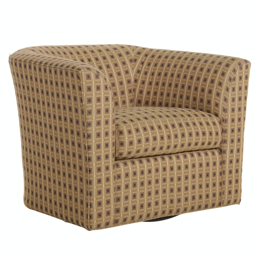 McCreary Modern for Macy's Upholstered Swivel Club Chair