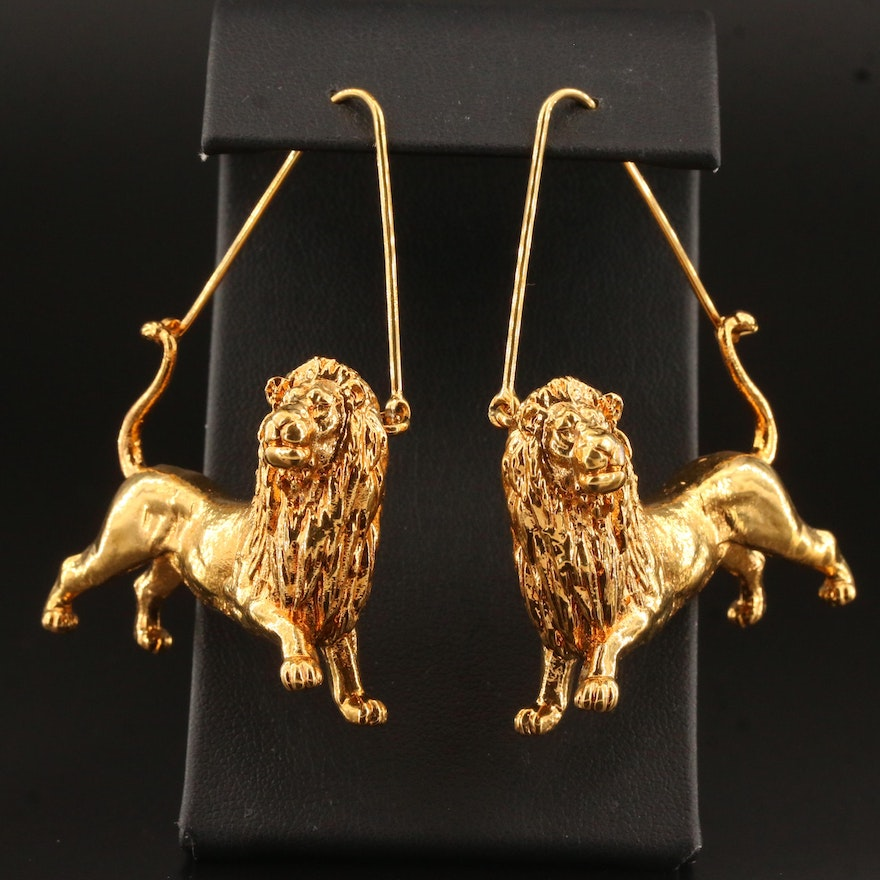 """Givenchy Zodiac Collection """"Leo"""" Earrings"""