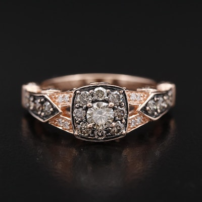 Le Vian 14K Rose Gold 1.05 CTW Brown Diamond and Diamond Ring