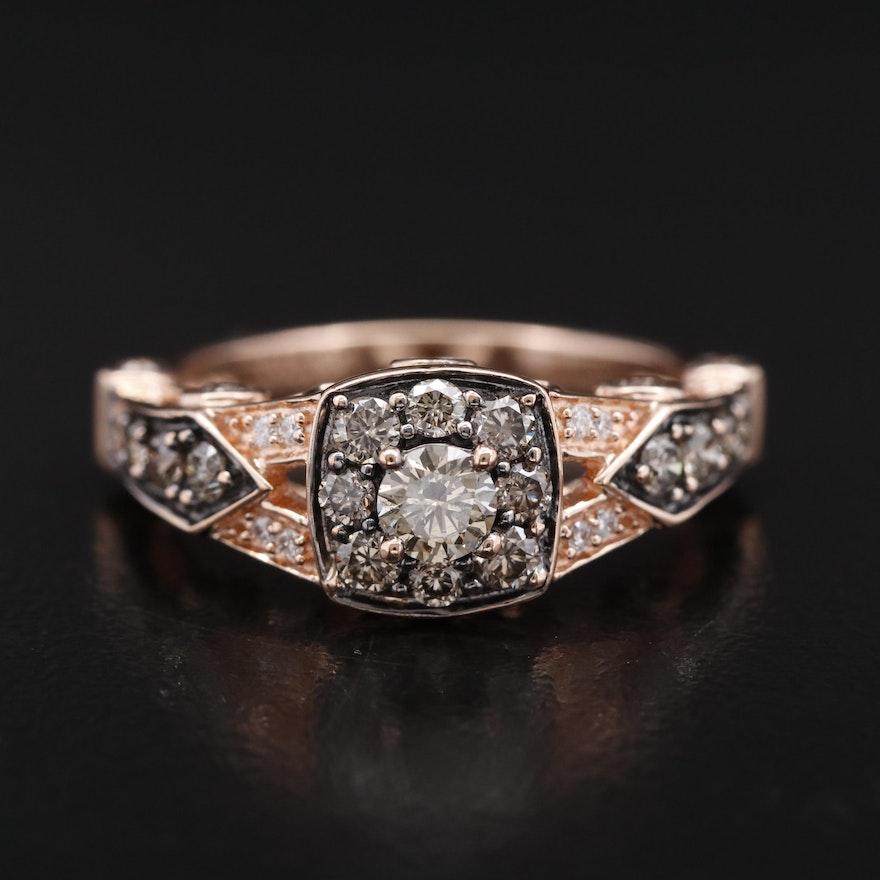 Le Vian 14K Rose Gold 1.05 CTW Brown Diamond and Diamond Ring