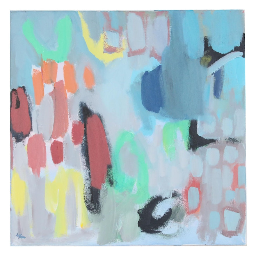 Lisa Schafer Abstract Acrylic Painting, 21st Century