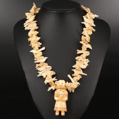 Western Bone Animal Fetish Necklace