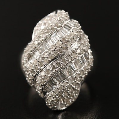 10K 2.11 CTW Diamond Domed Cluster Ring