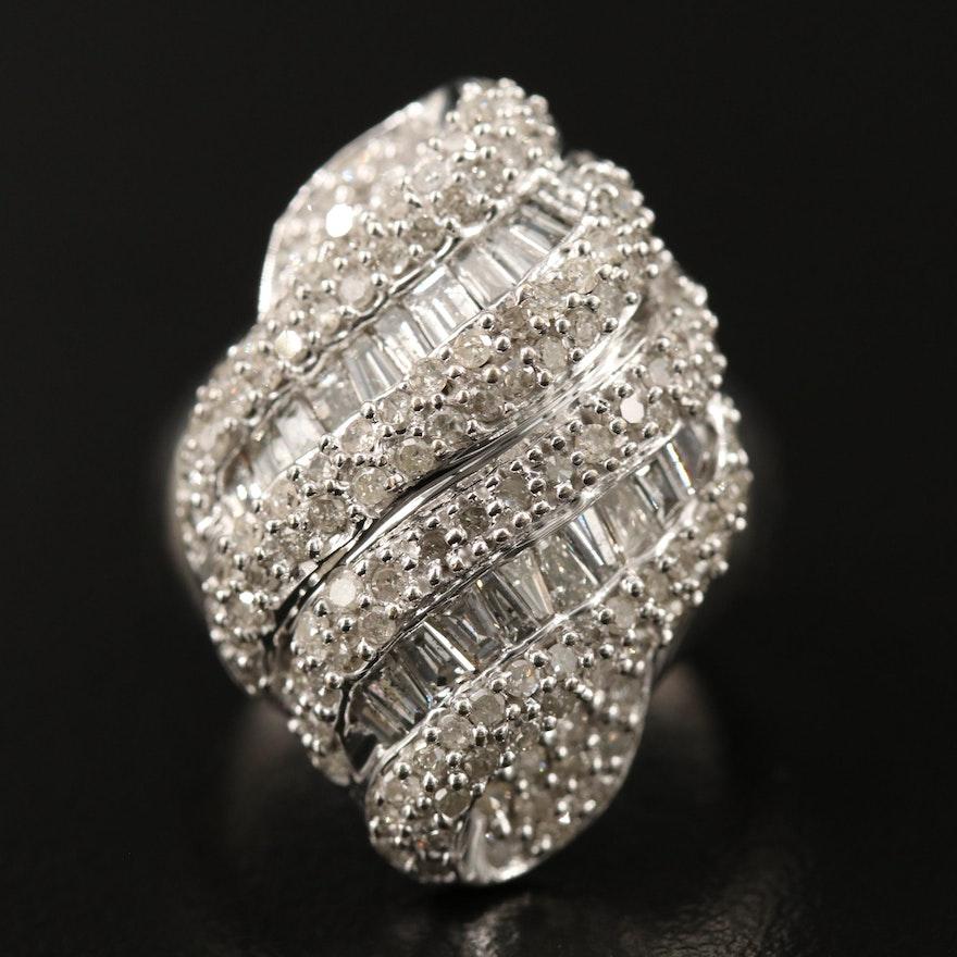 10K 2.11 CTW Diamond Domed Cluster Ring