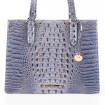 Brahmin Anywhere Melbourne Tote in Blue Ombré Crocodile Embossed Leather