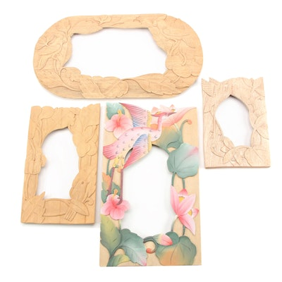 Hand-Carved and Hand-Painted Decorative Wooden Frames
