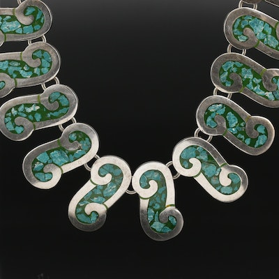 "Taxco, Mexico Sterling Silver ""S"" Link Necklace"