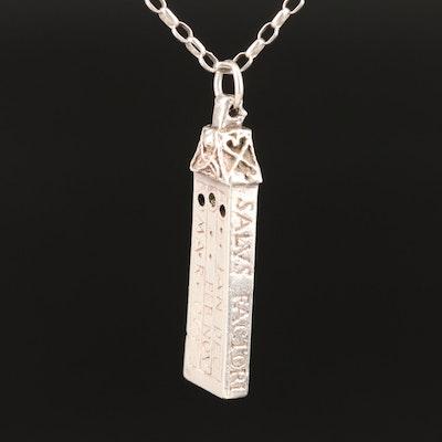 Sterling Silver Sundial Pendant