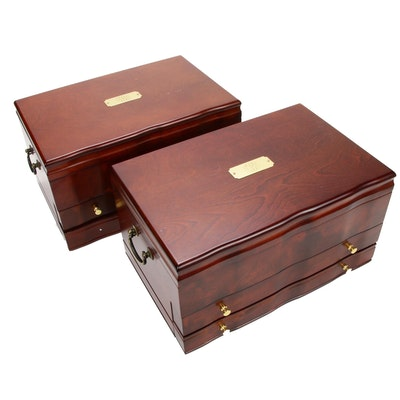 """Pair of Reed & Barton """"Victoria"""" Jewelry Chests"""