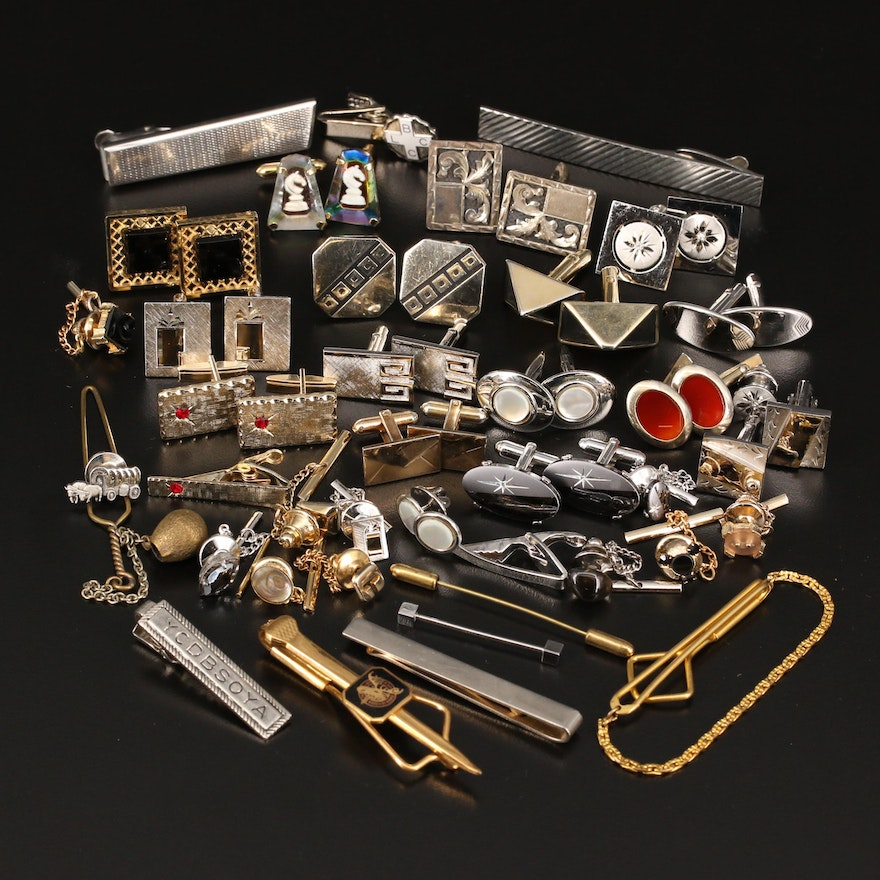 Mexican, Anson and Swank Collection of Cufflinks and Tie Pins