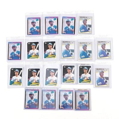 1989 Ken Griffey Jr. Topps, Fleer, and Donruss Rookie Cards