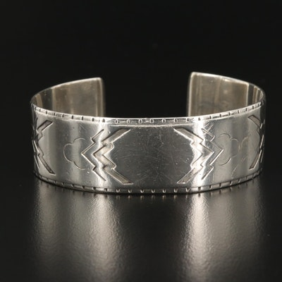 Vintage Harald Nielsen for Georg Jensen Sterling Silver Wide Cuff