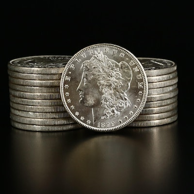 Roll of Twenty Uncirculated 1899-O Morgan Silver Dollars