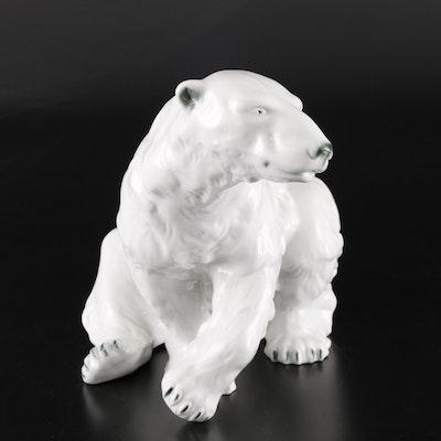 Royal Dux Porcelain Polar Bear Figure