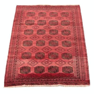 6'5 x 8'8 Hand-Knotted Turkoman Ersar Bokhara Wool Rug