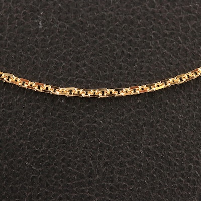 14K Fancy Link Chain