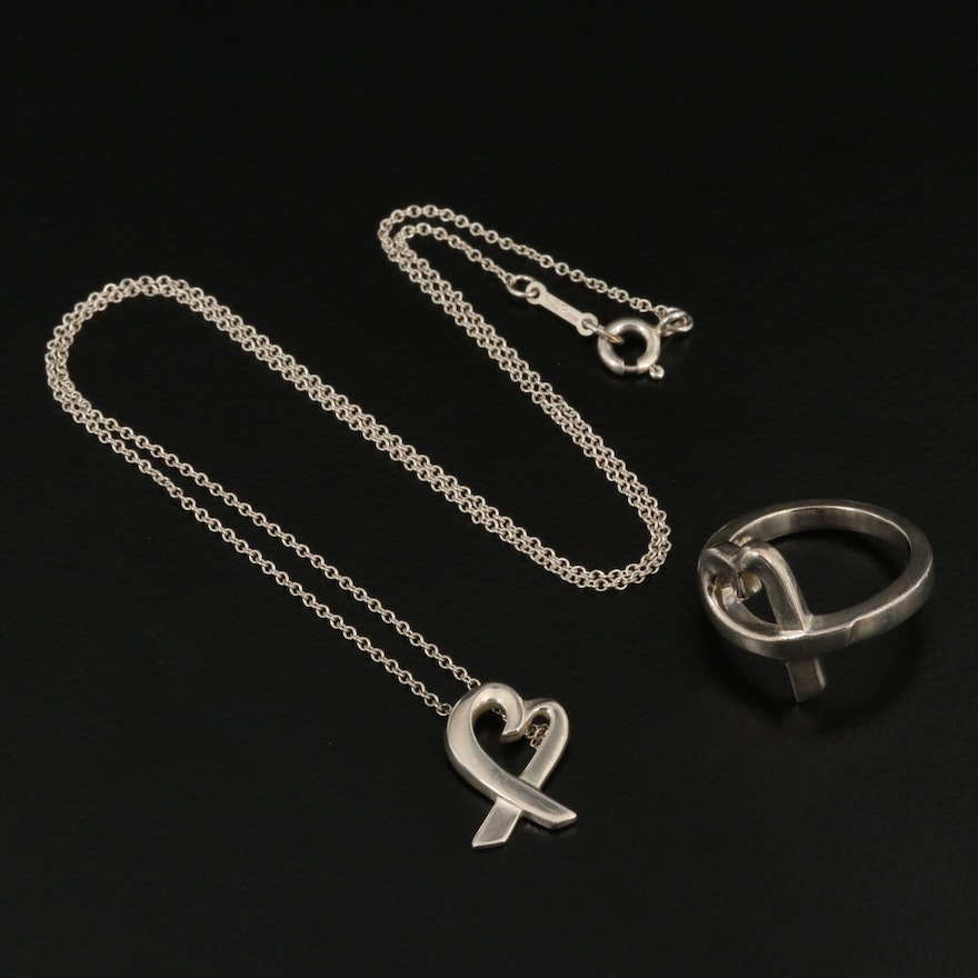 "Paloma Picasso for Tiffany & Co. ""Loving Hearts"" Necklace and Ring Set"