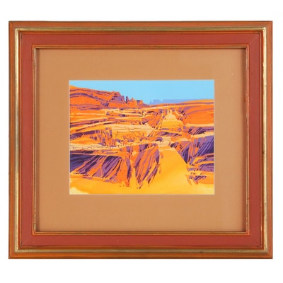 "Buffalo Kaplinski Acrylic Painting ""Canyonlands Tableau"", 1979"