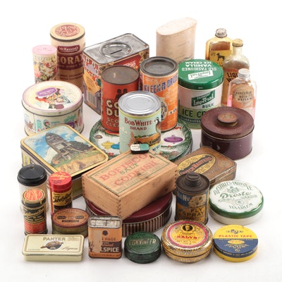 Food Storage Tins and Household Items